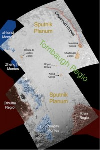 Sputnik Planum olarak isimlendirilen buzlu plato ovalar